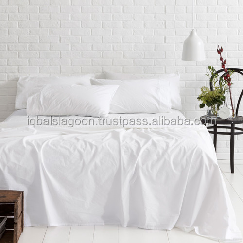 White Vintage Softwash Cotton Sheet Set