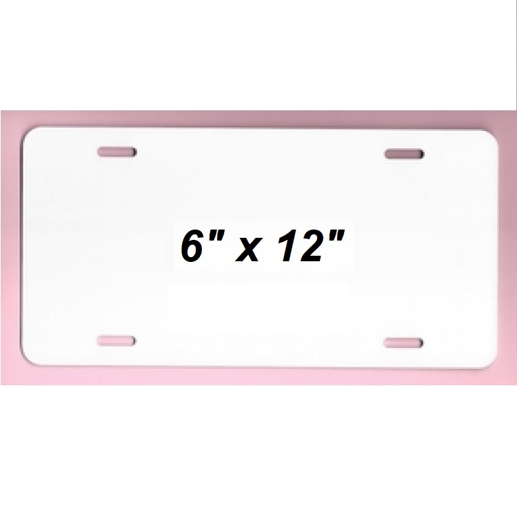 White Dye Sublimation Aluminum License Plate Blanks-Wholesale