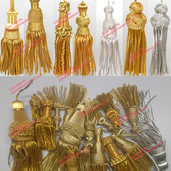 gold bullion metallic tassels