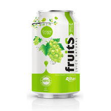 Wholesale Beverage Drink 330ml Aluminum can Sweet Grape Fruit Drink