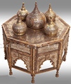 B185 Antique Reproduction Silver-Inlaid Large Incense Burner Arabic Scripts
