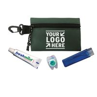 Dental Kit - has a travel toothbrush, toothpaste, floss and comes with your logo