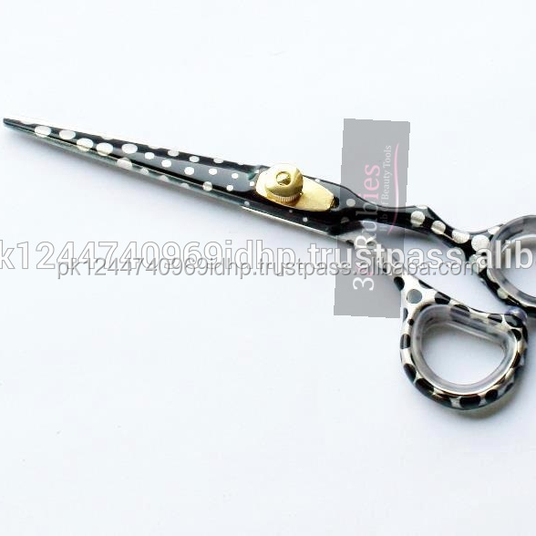 Japanese 440C Stainless Steel Color Handle Professional Hair Scissors