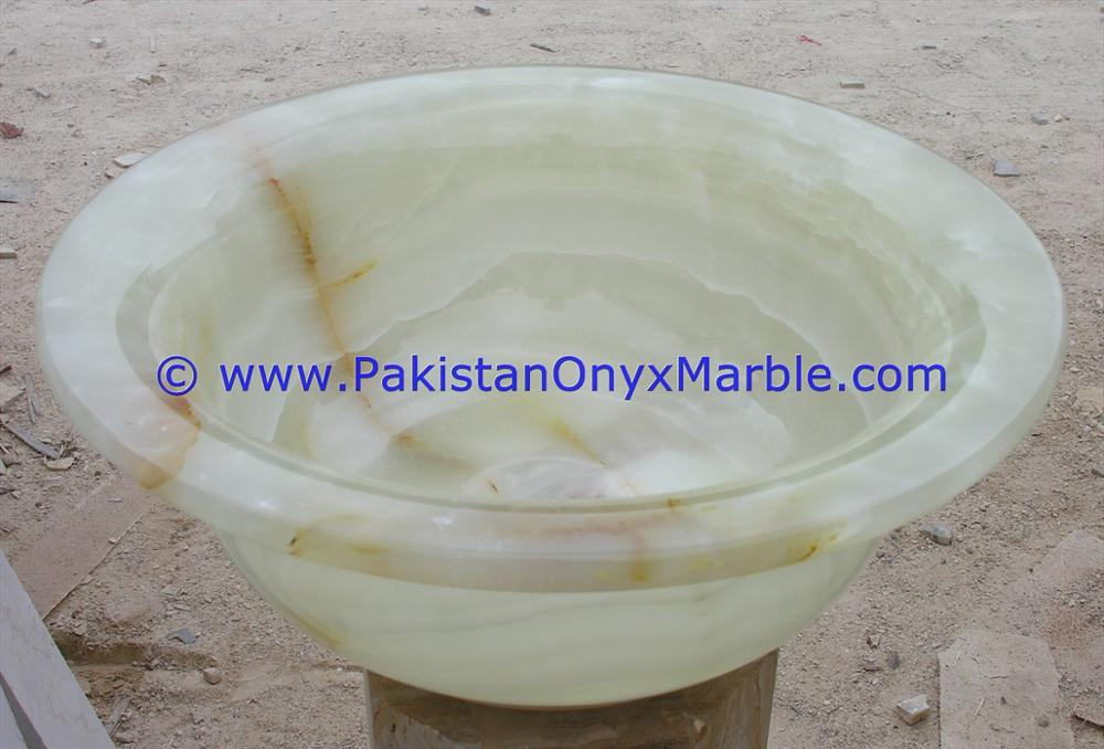 BEST PRICE NATURAL STONE WHITE ONYX ROUND BOWL SINKS BASINS COLLECTION