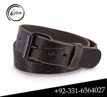 Hand Made English Bridle Leather Ranger Belt Western Buckle Genuine Leather Belts