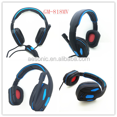 professional gaming headset/computer headset with boom Mic