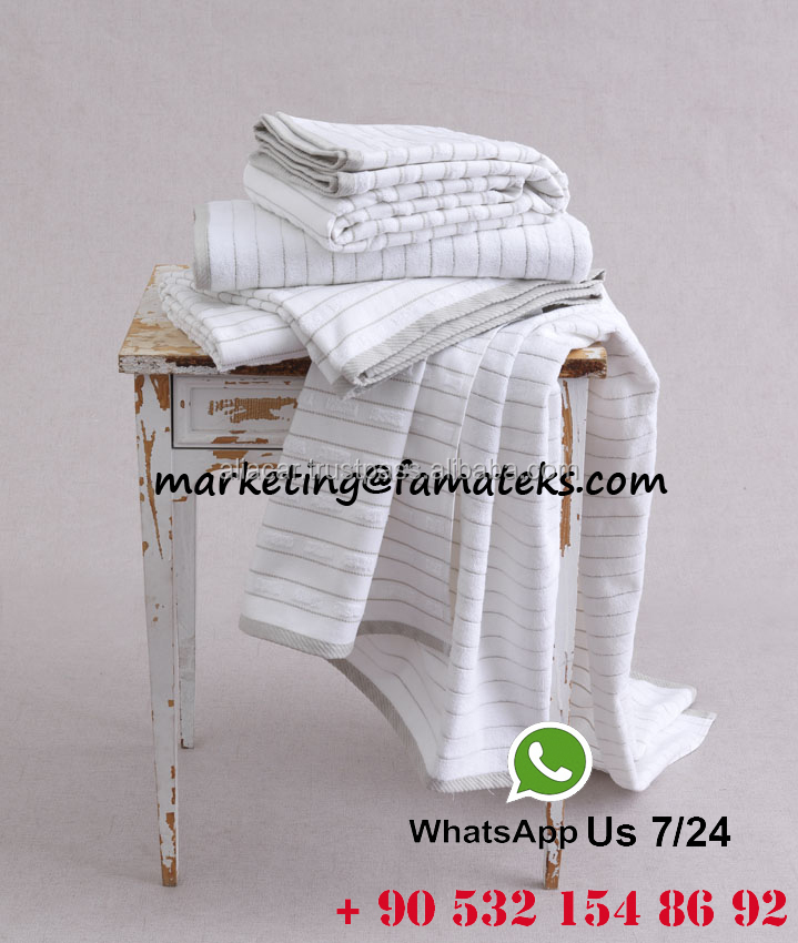 100*150 Jacquard Double Face Striped Terry Bath Sauna Spa Towel