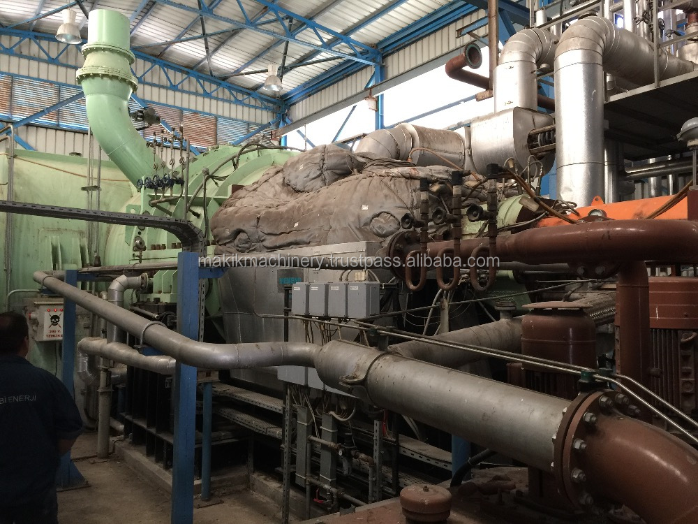 Used Steam Turbine 21 MWe at 50 Hz Steam 78 barg
