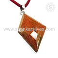 Exquisite beauty red sunstone pendant 925 sterling silver jewelry pendants wholesalers