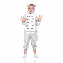 Raccoon Kids Kigurumi With Hood Butt Flap Pockets Pajamas Plush Onesie Animal Cosplay Costume Onsie Jumpsuit Home Clothes Cartoo