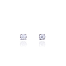 925 Silver Classical Single Stone setting Earrings