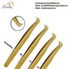 Precision Elite Perfect Curve Volume Tweezers / Volume lash Extension Tweezers Set from Pakistan