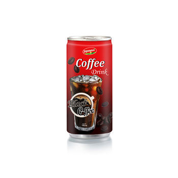 Black Coffee - Ice Coffee Drink Suppliers vietnam in Aluminium can 180ml