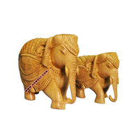 Wooden hand carved elephants indian souvenir elephant articraft handicraft