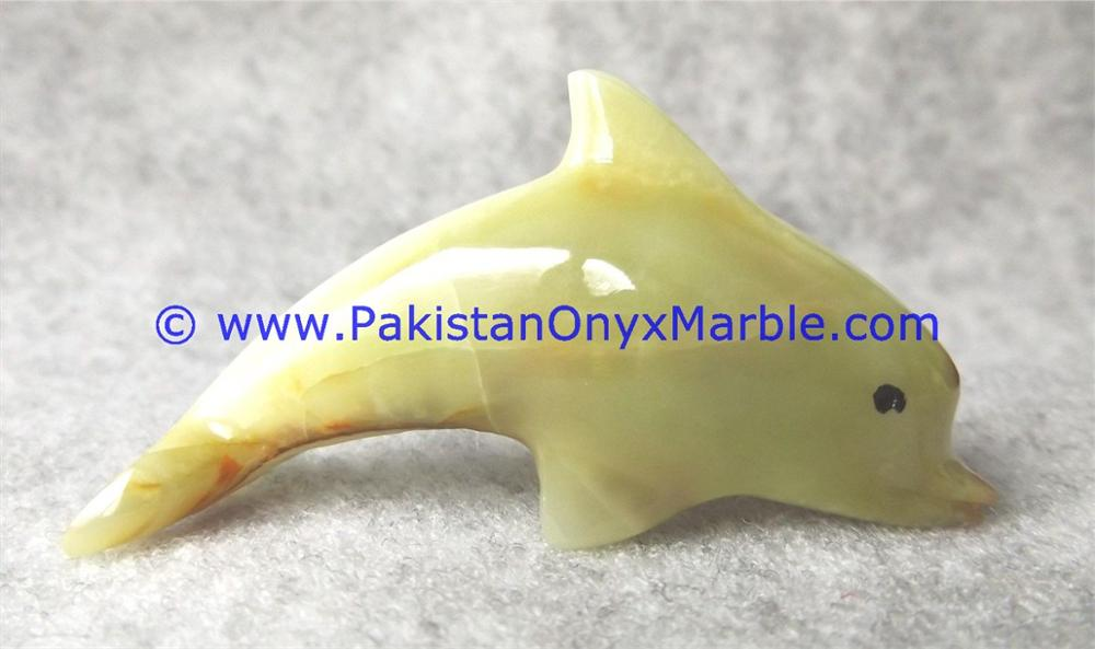 NATURAL COLOR GOOD SALE ONYX DOLPHINS FISH GREEN
