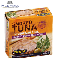 Trata - Tuna Fish Smoked in vegetable oil 160g - Canned Fish in Metal Tin