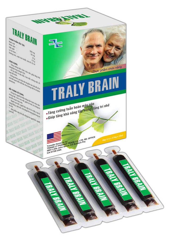 TRALY BRAIN tube 10ml - Functional food to prevent from stress, brain oxygenation and reduces memory problems related to aging