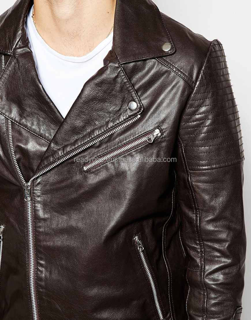 Clothing factories in china PU/cotton leather jacket, hot sale high quality winter jacket, motorcycle men
