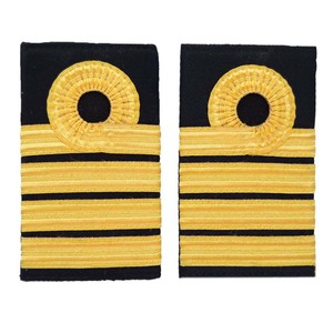 captain royal navy epaulette/ shoulder boards with gold wire french braid