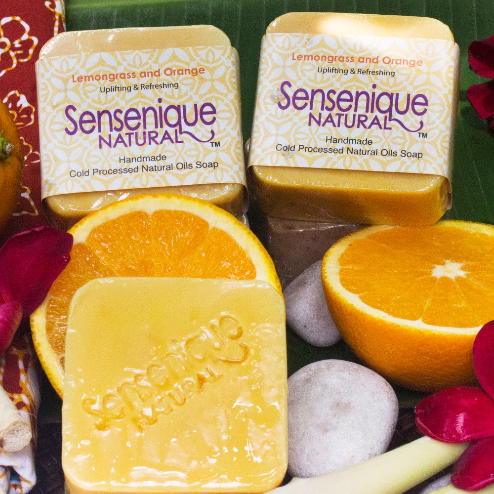 Natural Lemongrass Orange handmade soap/ Made in Malaysia