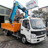 Hiab Truck Mounted Knuckle Boom Hydraulic Loader Crane