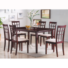 CGI 205A Dining room set, Wooden dining room set, solid rubber wood