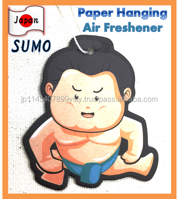 Original Design SUMO Wrestler Paper Hanging air freshener for automobiles with various scents