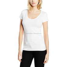 Women best quality promotional ladies custom design half sleeve shirt cheap plain printed 100% cotton fabric tshirt sports wear