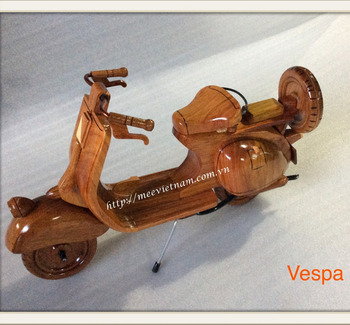 Vietnam handmade wood motorcycle model for home decoration/Vespa