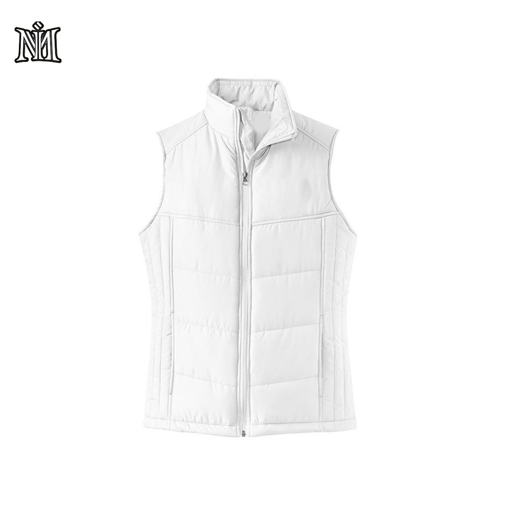 Fashion style custom reversible quilted winter vest for men