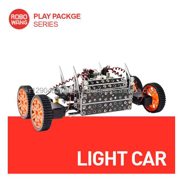 Developing Creativity DIY toy, robot Light Car, for adult