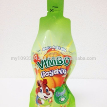 Stand up pouch spout juice bag, Bottle shape juice bag,liquid standing up fruit juice packaging bag