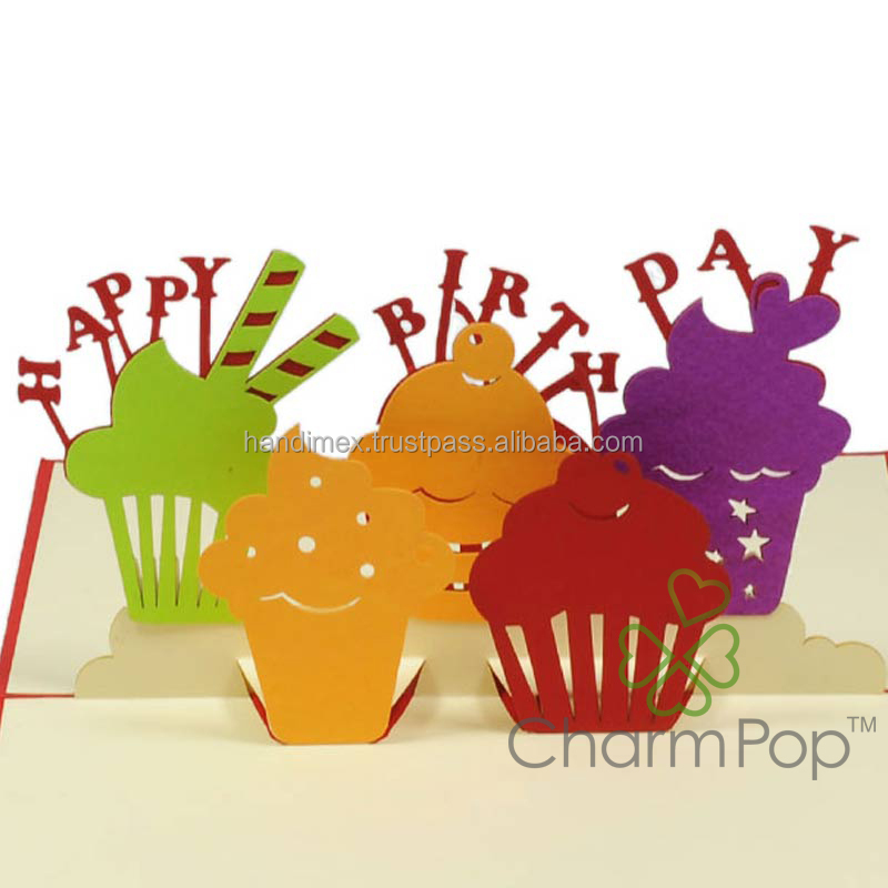 3D quilling card cupcake/ happy birthday cake
