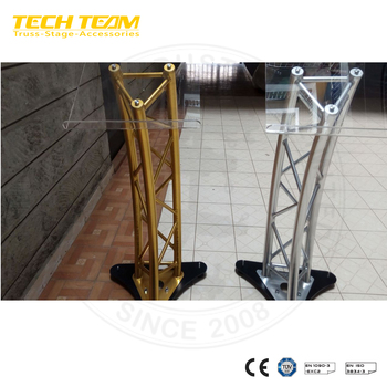 Curved Truss Lecterns Aluminum Truss Lectern
