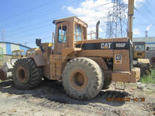 model well used caterpillar 966 wheel loader
