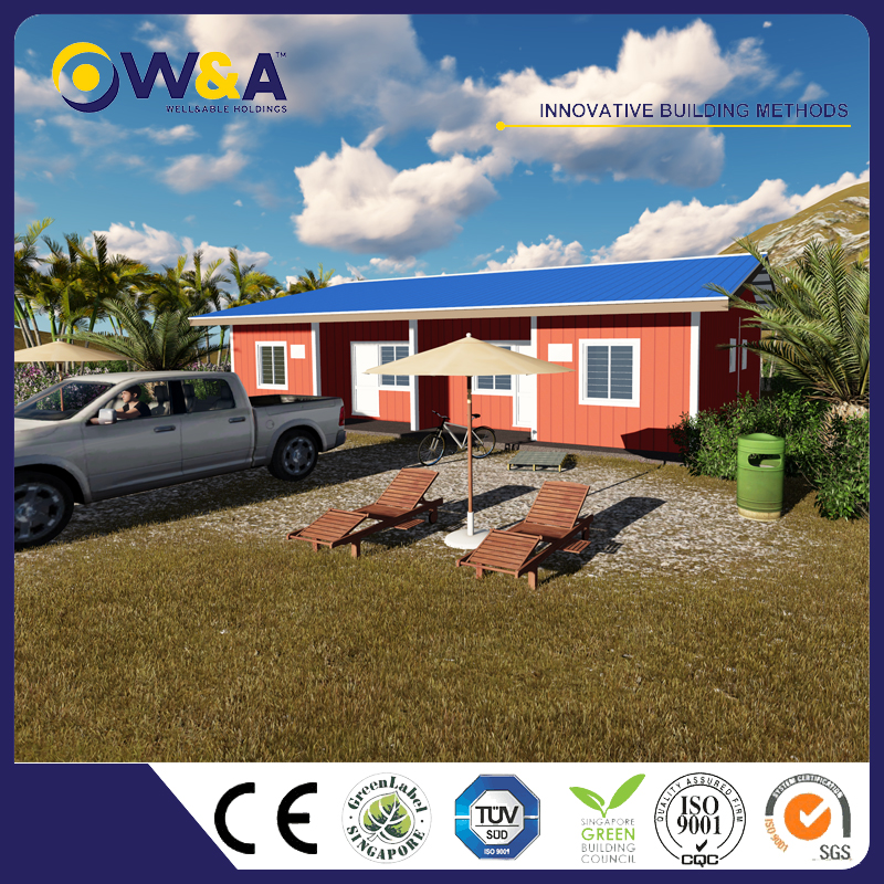(WAS1010-36D)Low Cost Prefabricated Houses Prices for Sale of Light Steel Prefab Villa