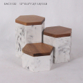 White Marble Tea Storage Box With Wooden Lid | small storage box with wooden lid | Coffee Tea Bag Storage Box