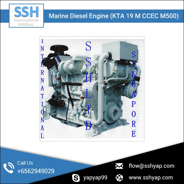 Specially Designed Sturdy Construction KTA19 Generator Marine Diesel Engine