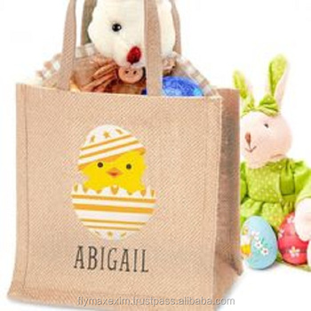 Christmas grocery shopping reusable high quality jute tote bag with various designs and sizes