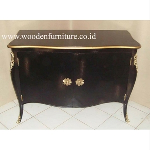 Classic Commode French Style Wooden Buffet Antique Reproduction Sideboard Mahogany Painted Cabinet European Home Furniture