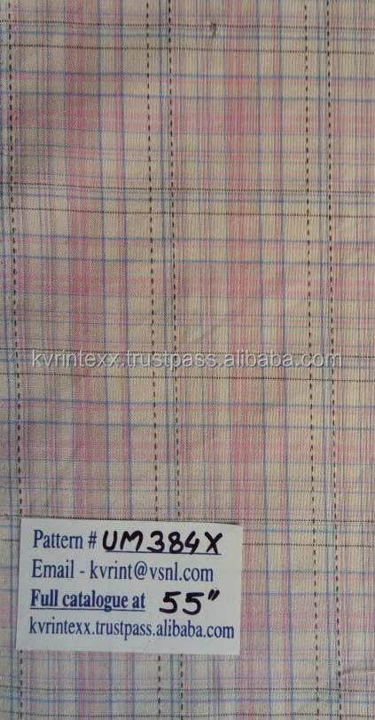 check and stripe fabric