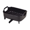 Black Plastic Draining Dish Rack for Kitchen with Pipe