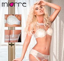 MIORRE FILLED LACE BRA & PANTY WITH GARTER BELT AND THIGH HIGH