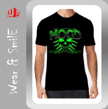 Skull Printed OEM Supply Type Black t shirt
