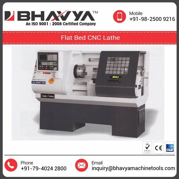 CNC Flat Bed Lathe Machine Used in Production of Car & Motorcycle Parts