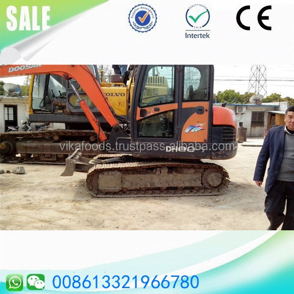 Good condition Doosan dh80-7 8 ton track excavator crawler digger Korea made