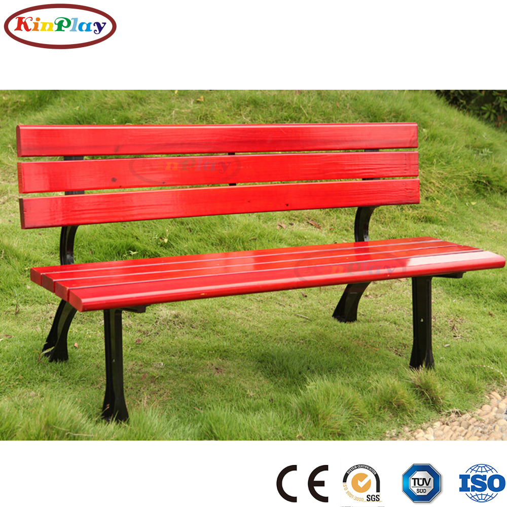 KINPLAY brand high quality modern outdoor bench  park wooden bench chair