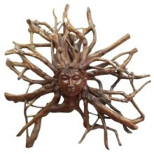 TEAK ROOT FACE DECORATION