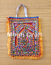 Hand Embroidery Mirror work Theli Bag- Traditional Mirror Work Theli Bag- Gujarati Mirror work Theli Bag