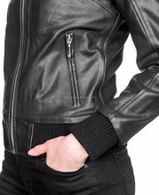 Fashion Black Slim Fit Soft lightweight Biker Synthetic Leatherjacket For Men